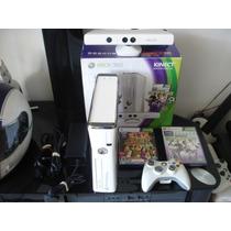 ¡wow! Consola Xbox Slim 360 Blanca Con Detalle Remato