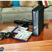 Xbox 360 Kinect 250gb + 1 Control + 3 Juegos