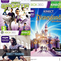 Pack Juegos Xbox Kinect Nike+disney+starwars+sports Original