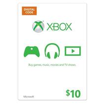 Tarjeta De 10 Dólares Xbox Live Xbox 360 One Microsoft Point