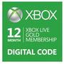 Tarjeta Xbox Live Gold 12 Meses