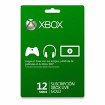 Tarjeta De 12 Meses De Xbox Live Para One O 360.