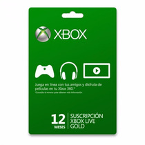 12 Meses Suscripción Xbox Live Gold Para One Y 360