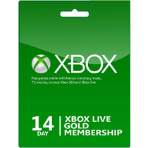 Tarjeta Xbox Live Gold Trial 14 Dias Xbox One_360 Disponible