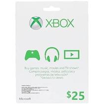 Xbox $ 25 Tarjetas De Regalo [código De Juego Online]