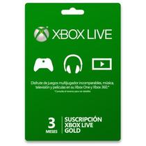 Membresia Xbox Live Gold 3 Meses Envio Gratis Por Email