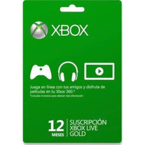 Membresia 12 Meses Xbox Live