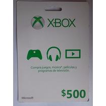 Tarjeta Xbox $500 Microsoft Points Xbox One Xbox Live