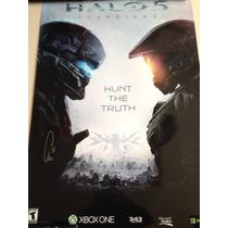 Halo 5 Poster Autografiado Por Chris Haluke