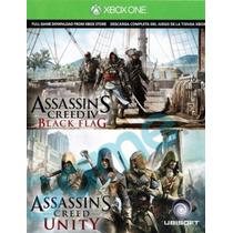 Assassinsns Unity Y Black Flag Codigo De Descarga Xbox One