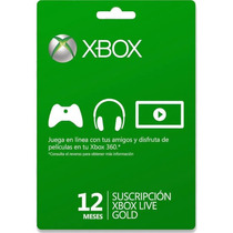 °° Membresia 12 Meses Xbox Live Gold °°