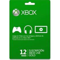 Membresia Xbox Live Gold 12 Meses - Xbox One - Xbox 360