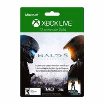 Membresía Xbox Live Gold 12 Meses Halo 5