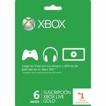 Membresia Xbox Live Gold 6 Meses + 1 Mes De Regalo 2 Juegos