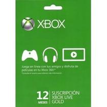 Membresia 12 Meses Xbox Live Gold Super Precio