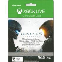 Membresia Xbox Live Gold 12 Meses + Emblemas Halo 5