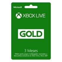 Tarjeta Xbox Live Gold 3 Meses