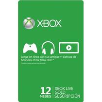 !!! Membresia 12 Meses Xbox Live Gold En Wholegames !!!