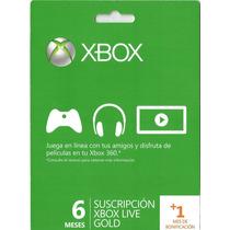 Membresia 6 Meses+ 1 Gratis Xbox Live Gold Super Precio