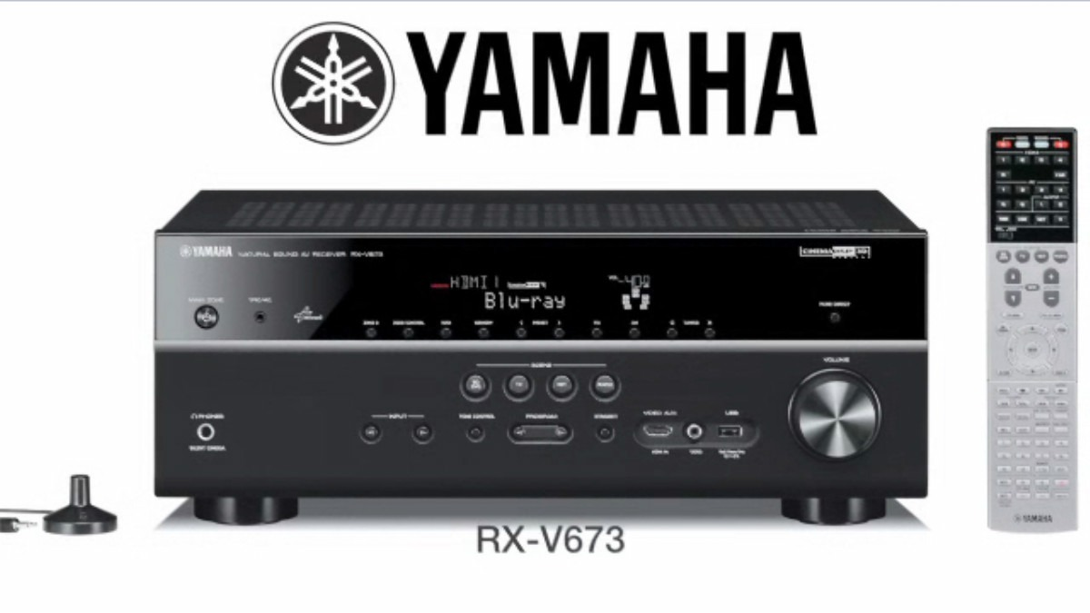 yamaha rx v673 receptor 7 2 airplay wifi 3d 4k android. Black Bedroom Furniture Sets. Home Design Ideas