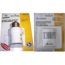 2pack Sensor De Movimiento+socket Con Sensor De Luz