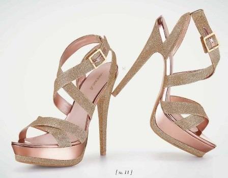 elegantes zapatillas andrea doradas con oro rosa altas