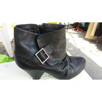 Botin Negro Dama Polipiel Style&co Talla 7 Americano 4 Mx