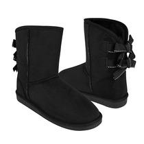 Divina Zapatos Dama Botas 51106-2 Suede Negro