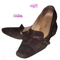 #614. Zapatos En Gamuza Regina Romero