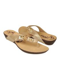 Flexi Zapatos Dama Sandalias 20703 Piel Oro