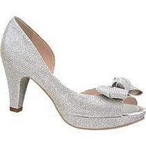 Zapatillas Zapatos Sandalias Andrea Plateadas Tacon Bajito