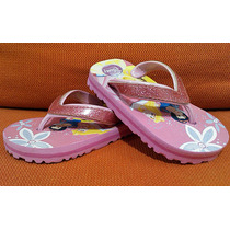 Adorables Sandalias Flip-flops Disney Princess No. 15 Niña