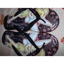 Sandalias Casuales,nuevas,color Negro-rosa,mujer, Tinkerbell
