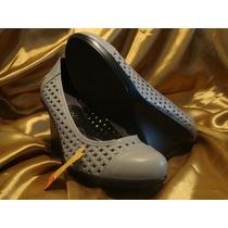 #29½ Zapatos De Piel Para Dama Wedges Extra Grande Xg Cynld