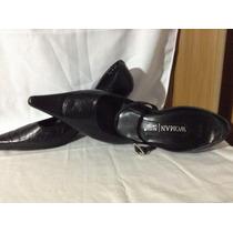 Zapatillas De Piel Color Negro Marca Emyco Woman Talla 25.5