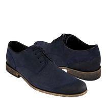 Capa De Ozono Zapatos Caballero Casuales 308801-2 Gamuza Mar