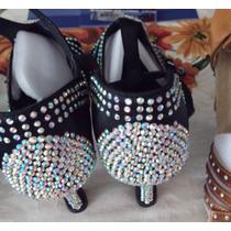 Zapato Elegante,mujer,4-4.5,bailar Ritmos Latinos,negro,1500