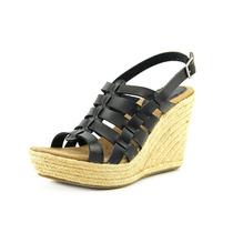 Mia Girl Cesta Punta Abierta Cuñas Zapatos De Los Tacones