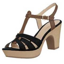Zapato Sandalias Plataforma Mujer Color Negro 1078312 Vv4