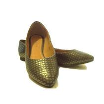Hermosos Zapatos Dama Flats Color Gris Plomo 4 Y 5 Nuevos!!