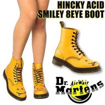 Botas Dr Martens Amarillas Carita Feliz Hincky Ed. Especial