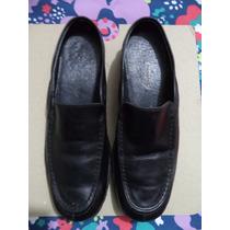 Comodos Zapatos Hush Puppies 100% Piel Negros 3.5 Mex.