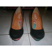 Zapatillas Plataforma No. 4 Mx. Marca Stylo Usadas 2 Veces