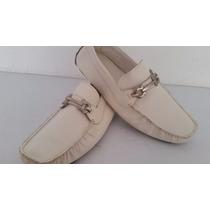 Mocasines Zapatos Salvatore Ferragamo Talla 7 Unico Par Nue