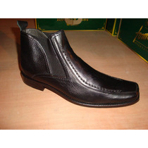 Zapato De Vestir En Piel Becerro Y Denver Color Negro