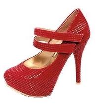 Botines Y Calzado Rojos Dama Moda Frio Invierno