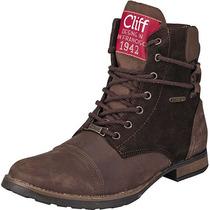 Botines Cliff 6901 Cafe Piel Oi Hm4