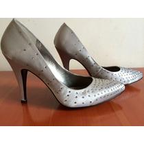Zapatillas Andrea Color Plata Talla 25.5
