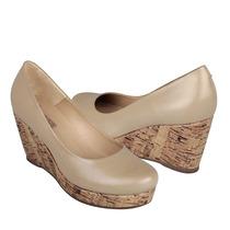 Vicenza Zapatos Dama Cuñas 5151 Piel Beige