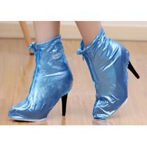 Funda Pvc Impermeable Vs Agua Lluvia Zapato Tacon Dama E4f